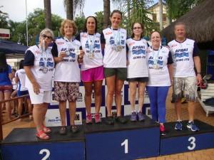 Equipe ituana de natação máster, destaque do torneio de Piracicaba.