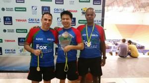 (da esquerda para a direita) Paulo Martinez, Márcio Shimabokuro e Evaldo Moraes.