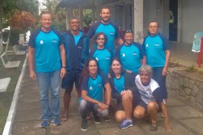 Equipe ituana de natação Master, que competiu em Limeira, no sábado (12/03).