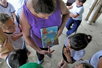 Alunos da Emef Ermelinda Silveira Machado participaram de atividades da Semana das Águas