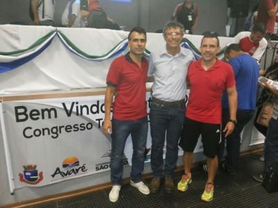 (da esquerda para a direita), Zé Carlos, Giba e Augusto, representantes da Secretaria Municipal de Esportes, que acompanharão a delegação ituana nos Jogos Regionais do Idoso.