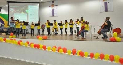 Apresentação dos polos do Projeto Guri, em Itu, pelos 21 anos do Projeto