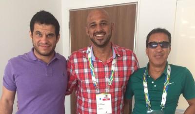 Mizael Conrado, Douglas Boschetti e Mário Sérgio Fontes