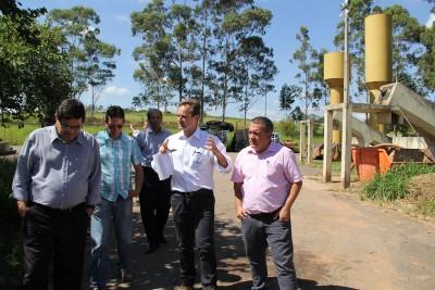 Vereadores também percorreram as instalações da ETE Canjica