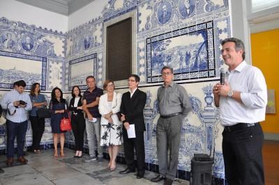 O prefeito Guilherme Gazzola compareceu à apresentação do Instituto Cultural Bubonem