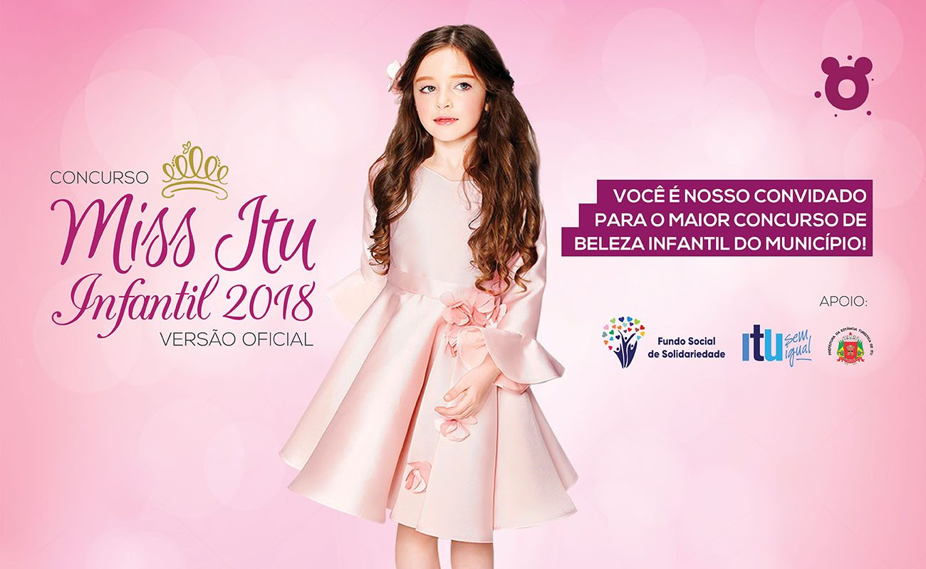 """aaab881c34a Ingressos para o concurso """"Miss Itu Infantil 2018"""" já estão à venda ..."""